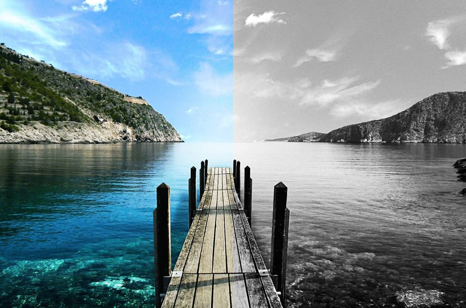 Transforming a colored image to Black and White Results