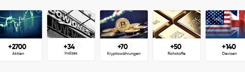 Capital.com Handelsinstrumente