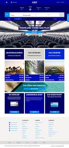 I slutet av januari lanseras den nya webbsidan även i Norge (bild: sas.se) Klick för at se större bild