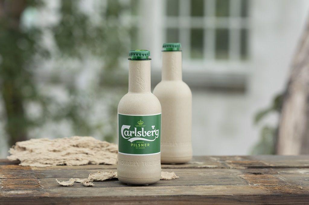 Carlsberg - Green Fiber Bottle - ølflaske laget av trefiber