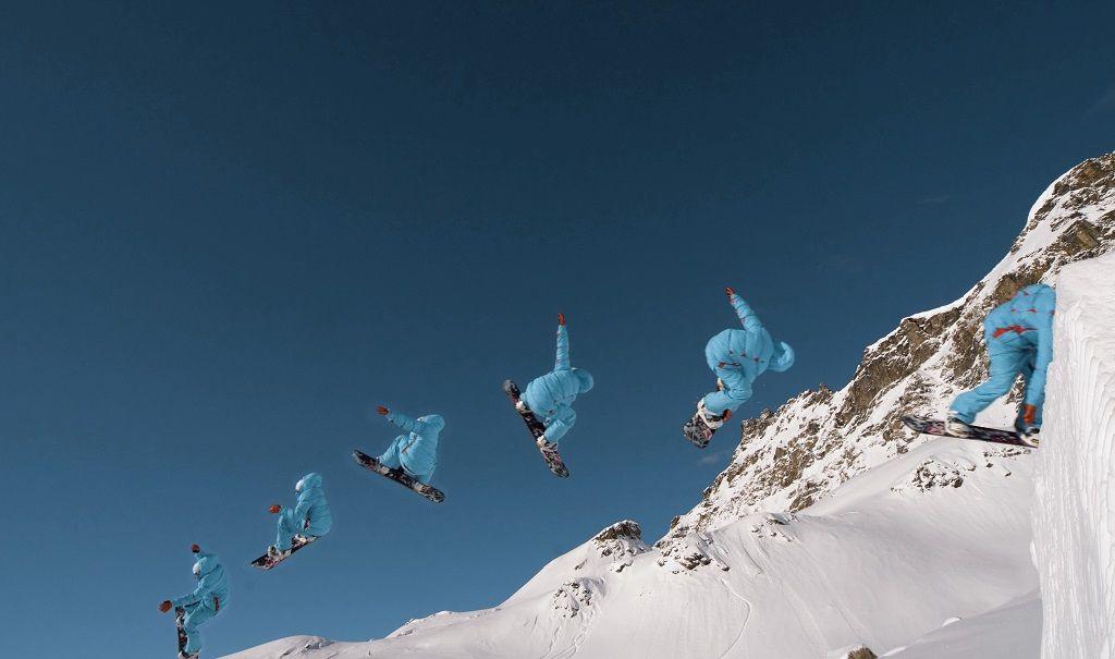 Snowboard - Snøbrettjørere - Aostadalen - Nord-Italia - Alpene
