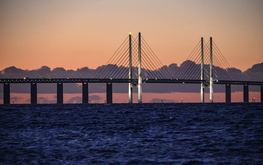Adventslys -Øresundbron - Danmark - Sverige - 2019