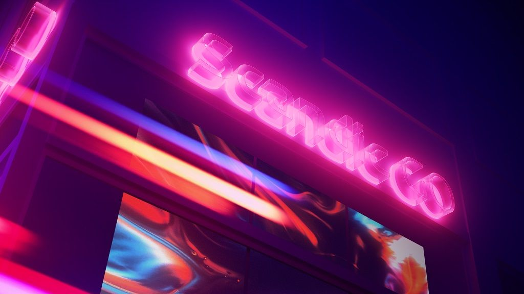 Scandic GO Neon sign - Hotellvaremerke
