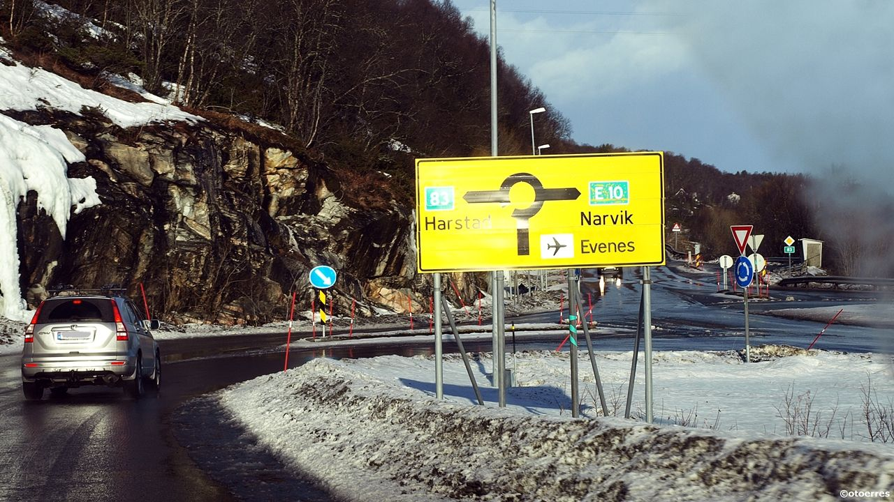 E 10 - Ofoten - Vegkryss - Narvik - Harstad - Evenes