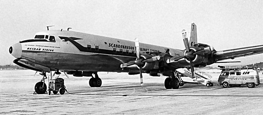 SAS - Nordpolsruten - LN-MOD - Reidar Viking - DC 7