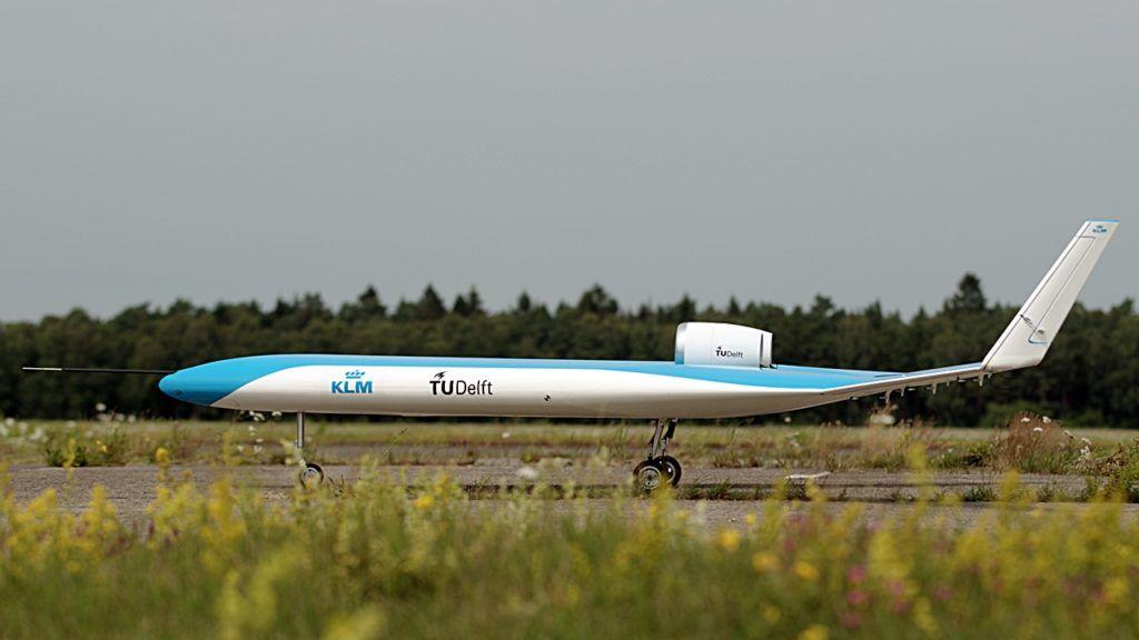 Flying V - eksprimentfly - Drone - KLM - TU Delft
