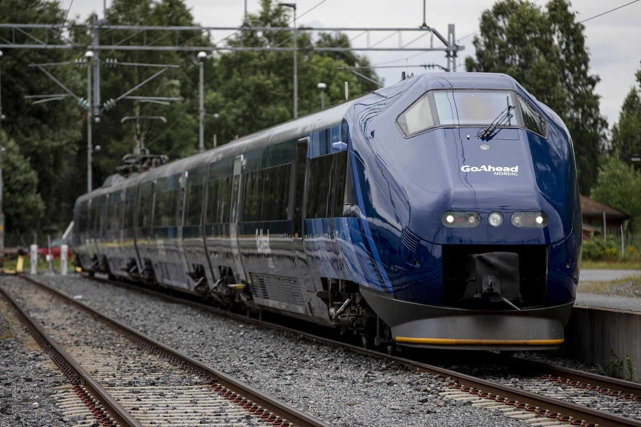 Sørtoget - Go-Ahead - Nye farger - juli 2020 - Kongsberg
