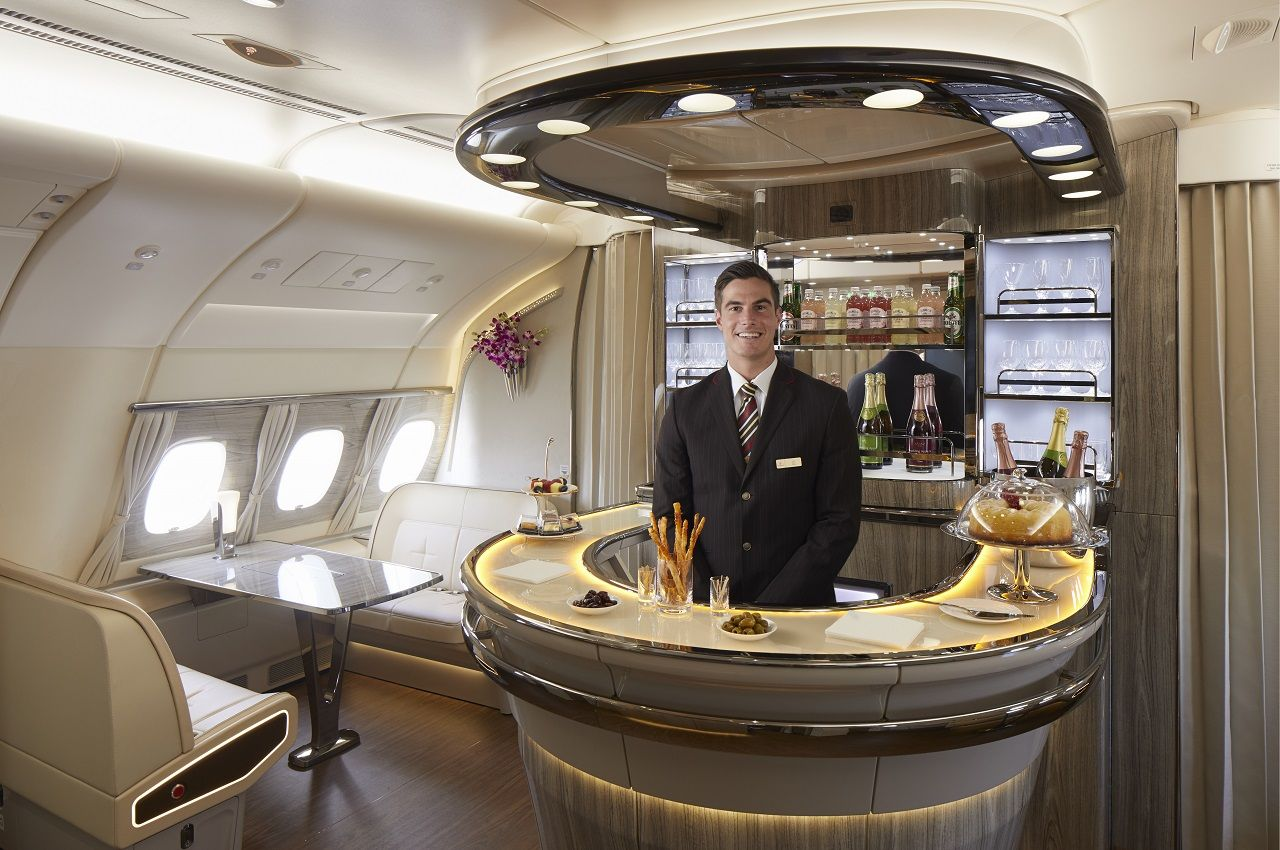 Emirates - Ny A380 Onboard Lounge - 2021