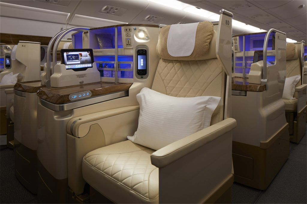 Nye flyseter - Emirates - A380 Business Class - 2021