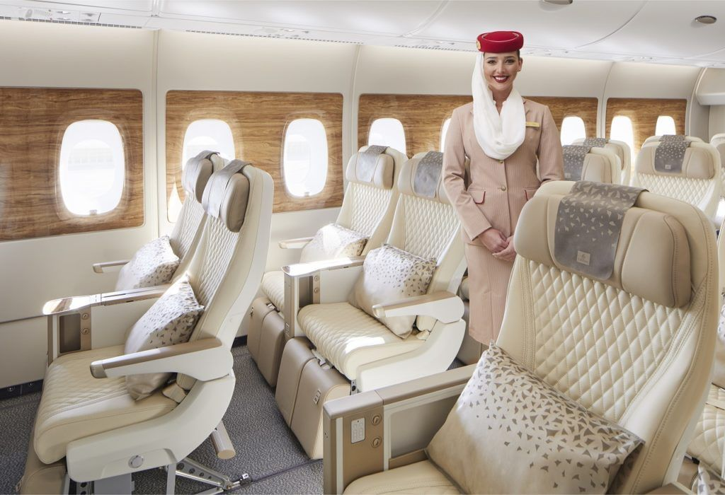 Kabinansatt - Emirates - Premium Economy - A 380 - B 777