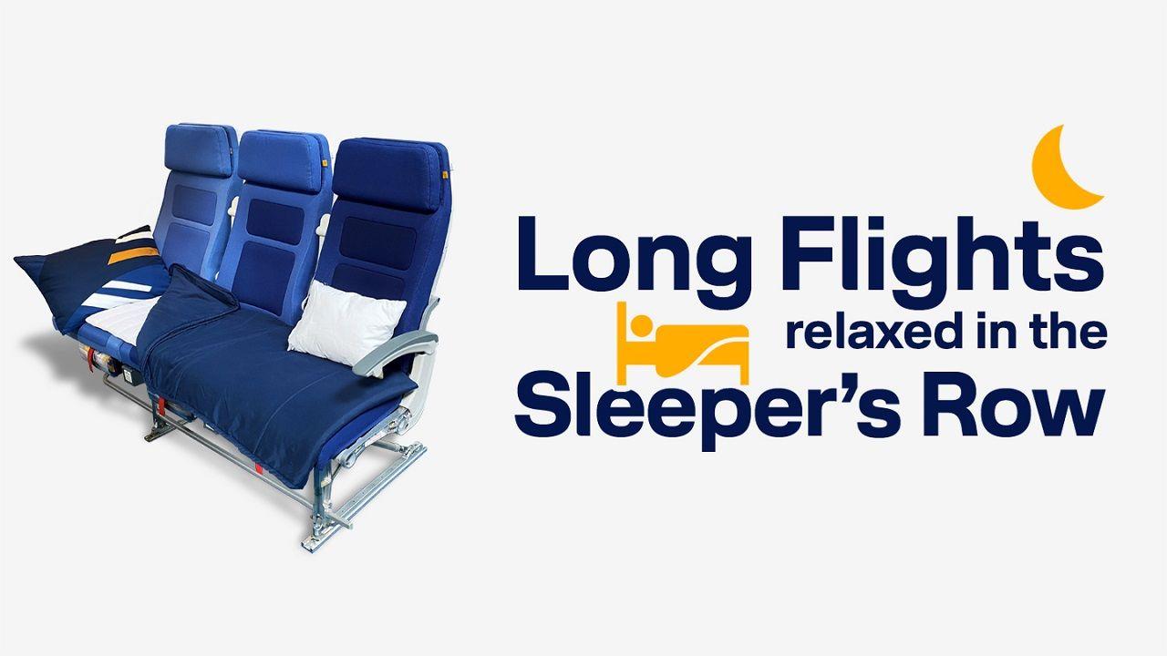 Sleeper's Row - Økonomiklasse - Langdistanseflyvninger - Lufthansa