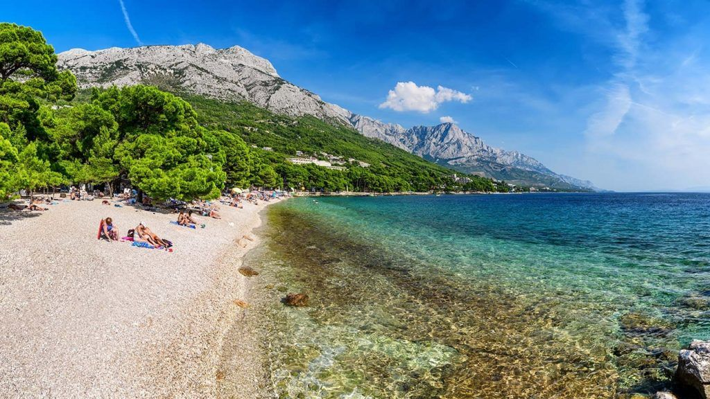 Punta Rata - Strand - Brela - Makarskas Riviera - Adriaterhavet - Kroatia