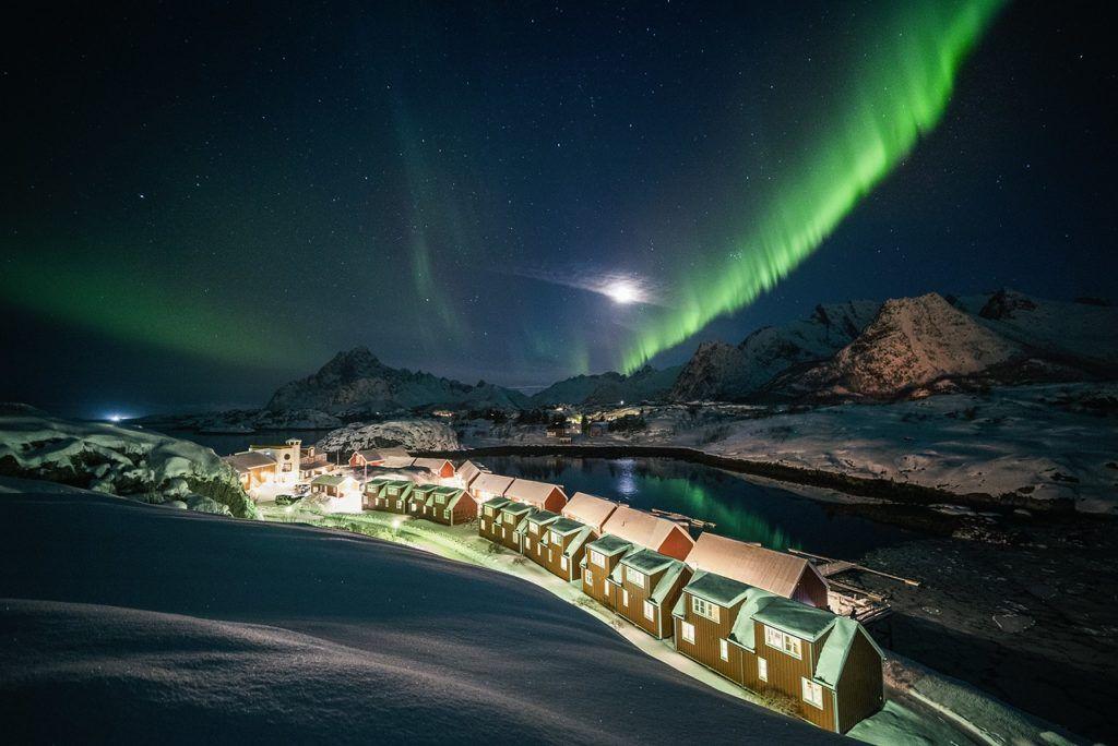 Nordlys - Aurora Borealis - Vinter - Nyvågar Rorbuhotell - Kabelvåg - Lofoten