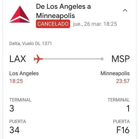 Vuelo cancelado por la aerolínea debido a la propagación del COVID-19   Geovanny Morera