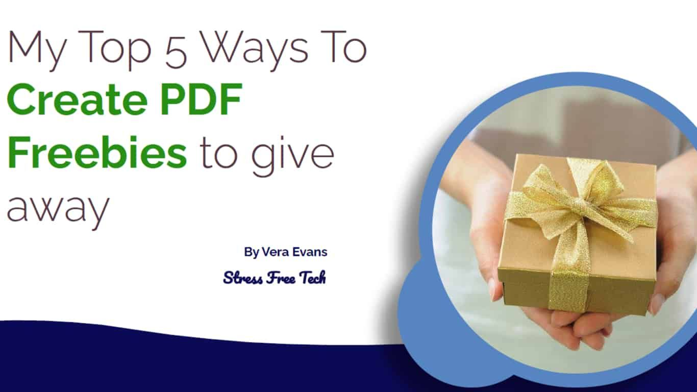 Just for You! 5 Different Ways to Create a PDF Freebie