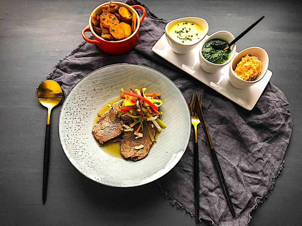 The Hirshon Austrian Boiled Beef With Traditional Accompaniments - Tafelspitz
