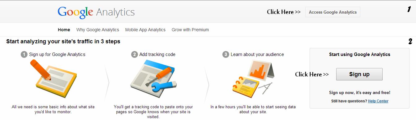 Access Google Analytics