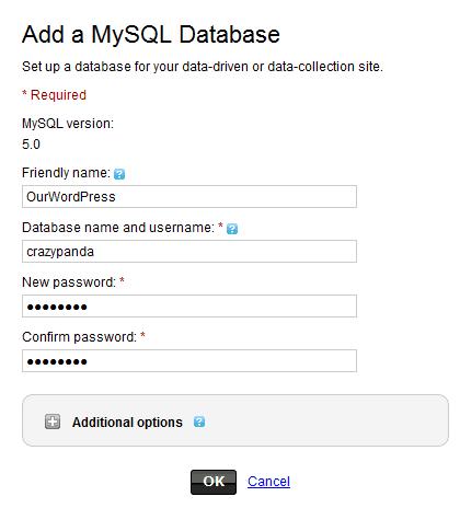 Create MySQL Database