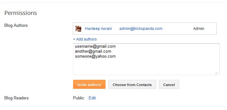 Blogger Blog Authors